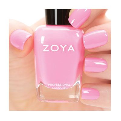 """Zoya Nail Polish in Kitridge (""""Kitridge by Zoya can be best described as a classic summer bubblegum pink cream. This universally flattering (evenly balanced between cool & warm) has enough white to make it pop against a tan! Flawlessly opaque in 2 coats. Please note: Due to the florescent pigment used, actual shade and photographic reproduction may differ."""" /// Family - Pink; Finish - Cream; Intensity - 5 [1 = Sheer - 5 = Opaque]; Tone - Cool)"""