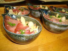 Bavarois van witte asperges met ham, Recepten - Voorgerechten & hapjes, Gette.org