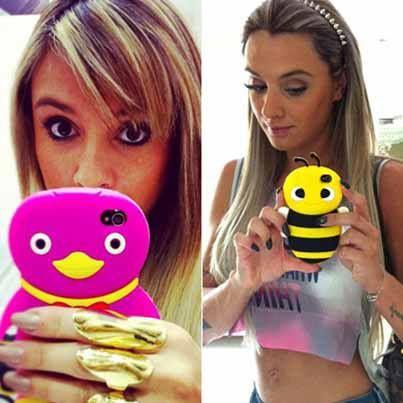 Coloridas, de bichinho e com brilho! Inspire-se nas capinhas de celular mais fofas de Juju http://r7.com/lYey #Legendários