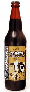 Creme Brulee Stout: very dark brown with vanilla, custard & brown sugar notes. As dessert, over vanilla ice cream, or with vanilla custard. Very tasty! southern tier brewing company