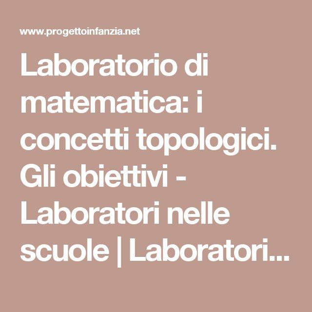 Laboratorio di matematica: i concetti topologici. Gli obiettivi - Laboratori nelle scuole | Laboratori nelle scuole
