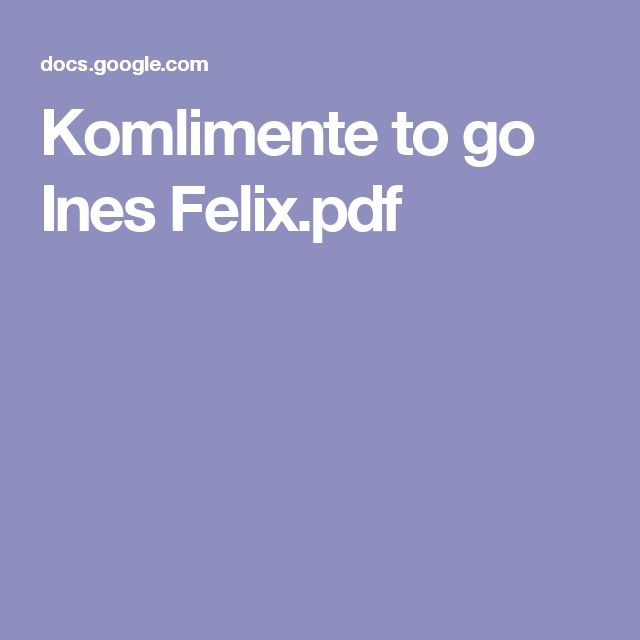 Komlimente to go Ines Felix.pdf