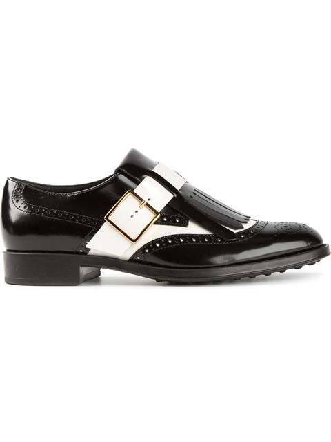 Shop Tod's contrast buckled brogues in Parisi from the world's best independent boutiques at farfetch.com. Over 1000 designers from 60 boutiques in one website.: Contrast Buckled, Shop Tod S, Buckled Brogues, With Farfetch, Fashion 2014, Shopping, Designer Clothing