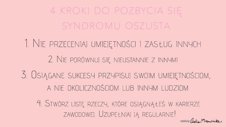 Syndrom Oszusta. Co to takiego i jak się go pozbyć? http://www.ewelinamierzwinska.pl/syndrom-oszusta/