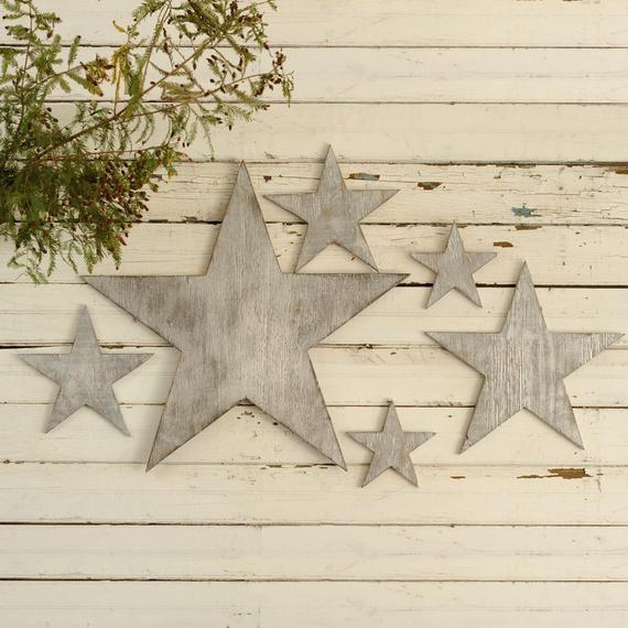 Star Set 5 Pc Star Wall Art 4th Of July Decor Wooden Stars Etsy In 2020 Star Wall Art Metal Stars Decor Stars Wall Decor
