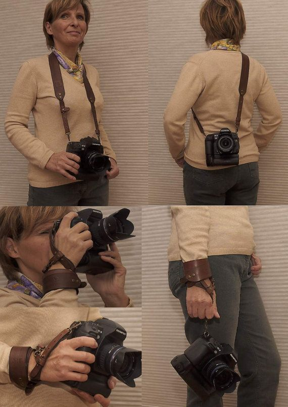 Custom Leather Camera StrapPersonalized by 2centsleathershop