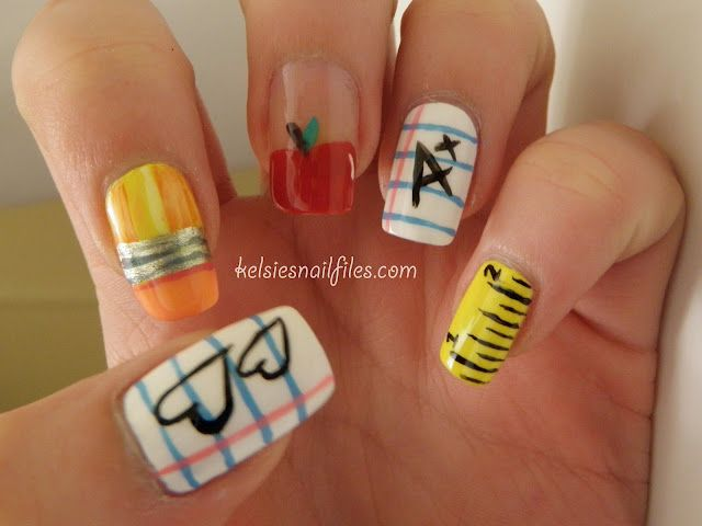Back to School Nails. summer is nearly over and back to school