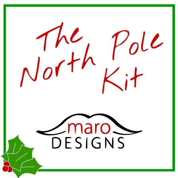 Holiday Photo Props. Party Props. Wedding Photo Props. Christmas Props. Photo booth Props. Christmas Photo Props - The North Pole Maro Kit Santa Kit Elf Hat with Ears Rudolph kit