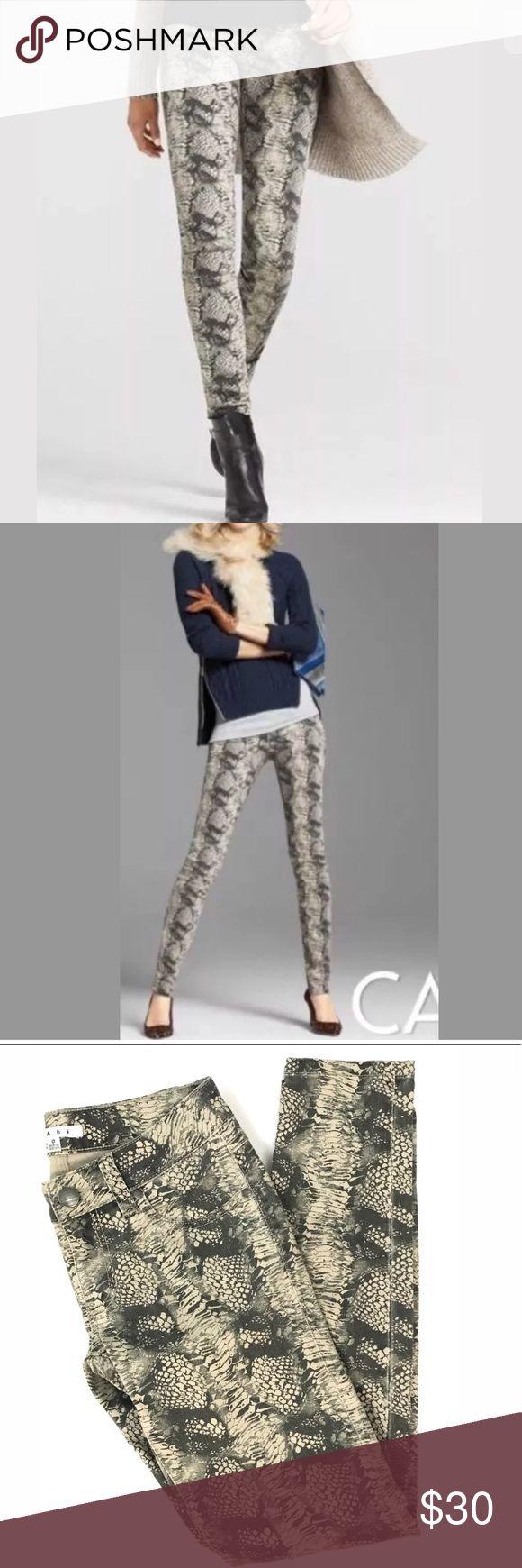 "Cabi #958 Diamondback Snakeskin Print Skinny Jeans Excellent like new! Size zero. 28"" waist 7"" rise 30"" inseam. CAbi Jeans Skinny"