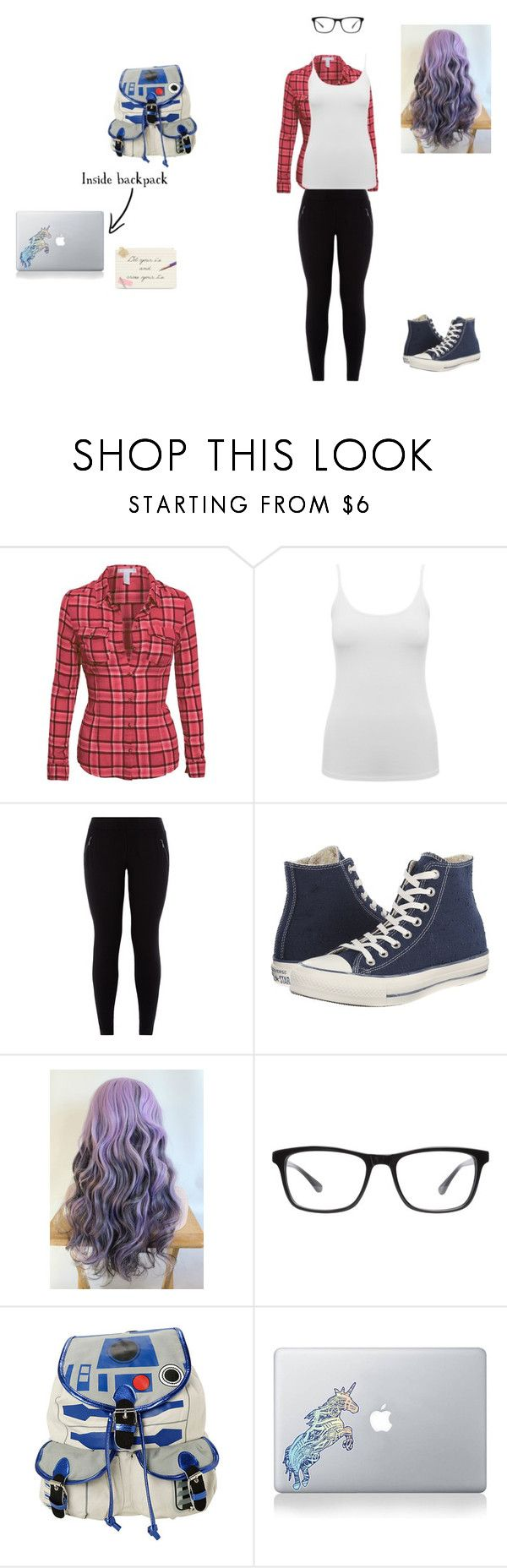 """""""Earth to Echo"""" by foreverdisney-892 ❤ liked on Polyvore featuring M&Co, New Look, Converse, Joseph Marc, R2, Vinyl Revolution and Kate Spade"""
