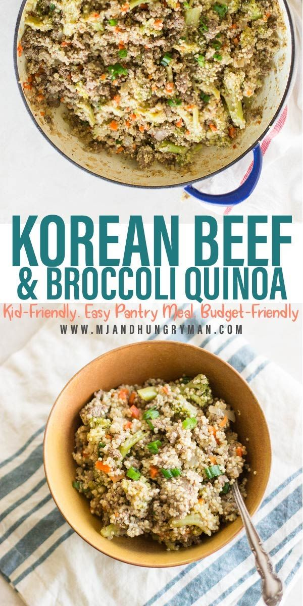 Healthy Korean Ground Beef And Broccoli Quinoa Recipe In 2020 Broccoli Beef Ground Beef And Broccoli Healthy Weeknight Meals