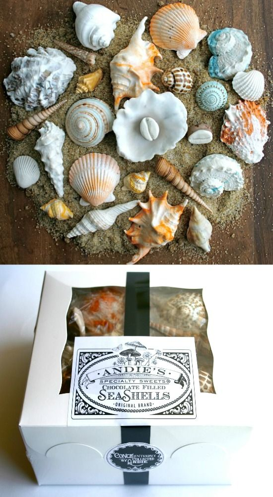 Designed to fool the eye, this Seashell Chocolate Candy is incredible. Great hostess gift & edible table decoration for those who love to comb the beach: http://beachblissliving.com/seashell-chocolate-candy/
