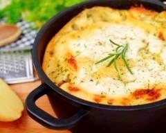 Flan de pommes de terre aux deux fromages (micro-ondes) (facile, rapide) - Une recette CuisineAZ