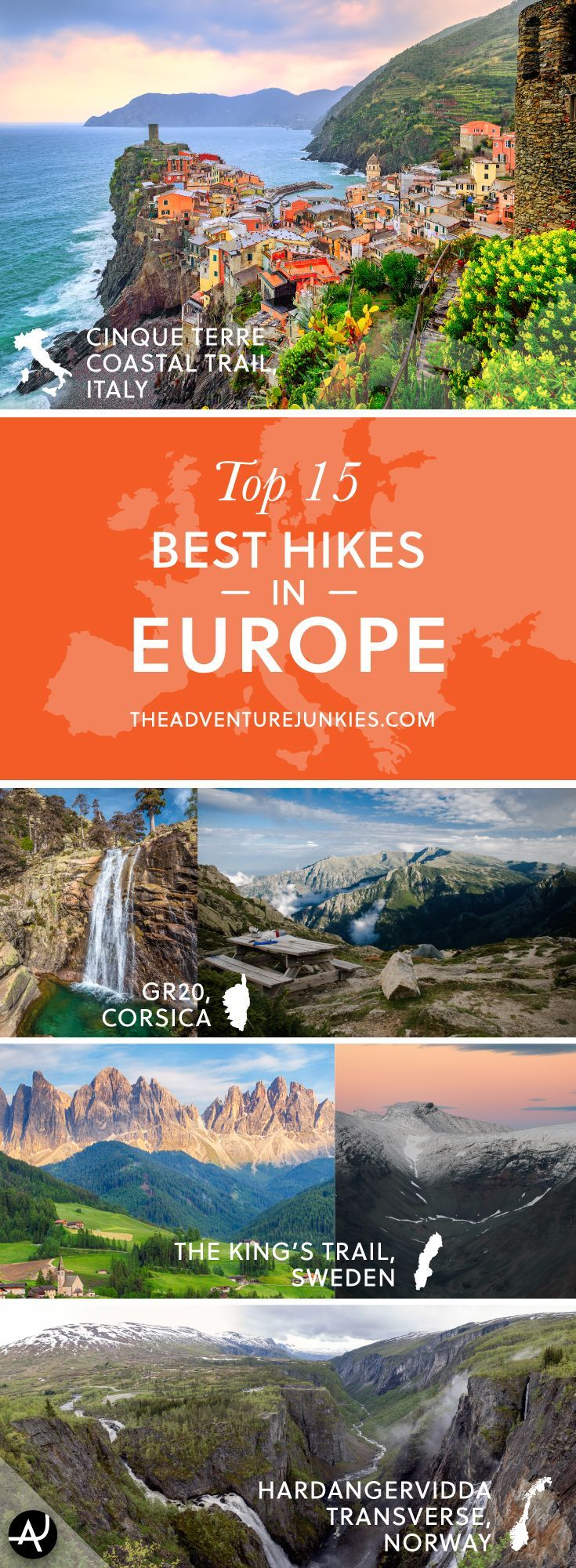 The Best Hikes in Europe – Best Hiking Destinations – Hiking Bucket List – Beautiful Backpacking Places To Go On Vacation