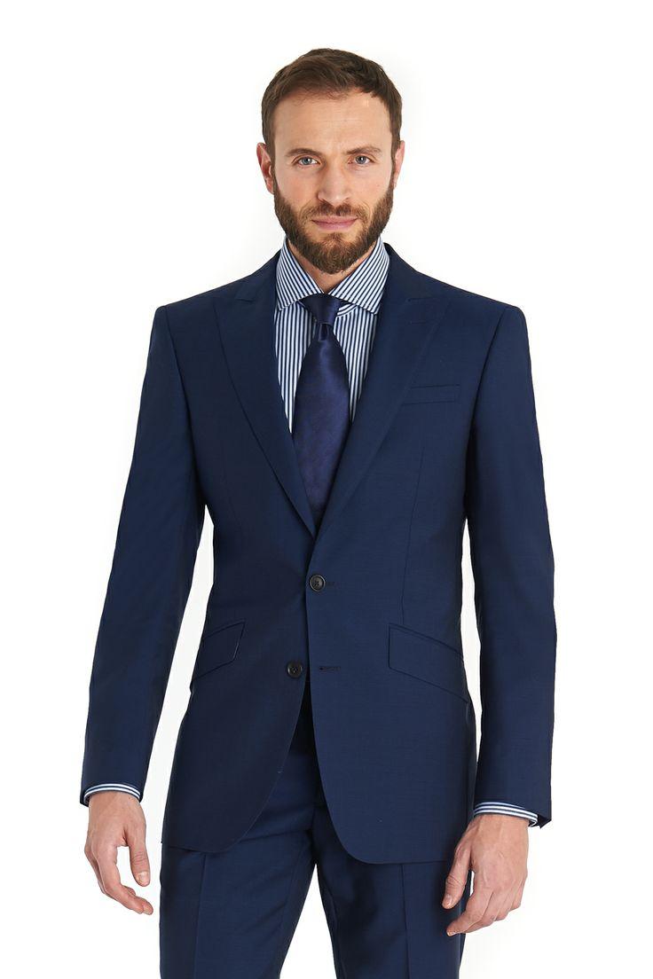Moss 1851 Regular Fit Electric Blue Suit