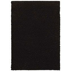 Grand Slam Black Shag Rug (5' x 7')