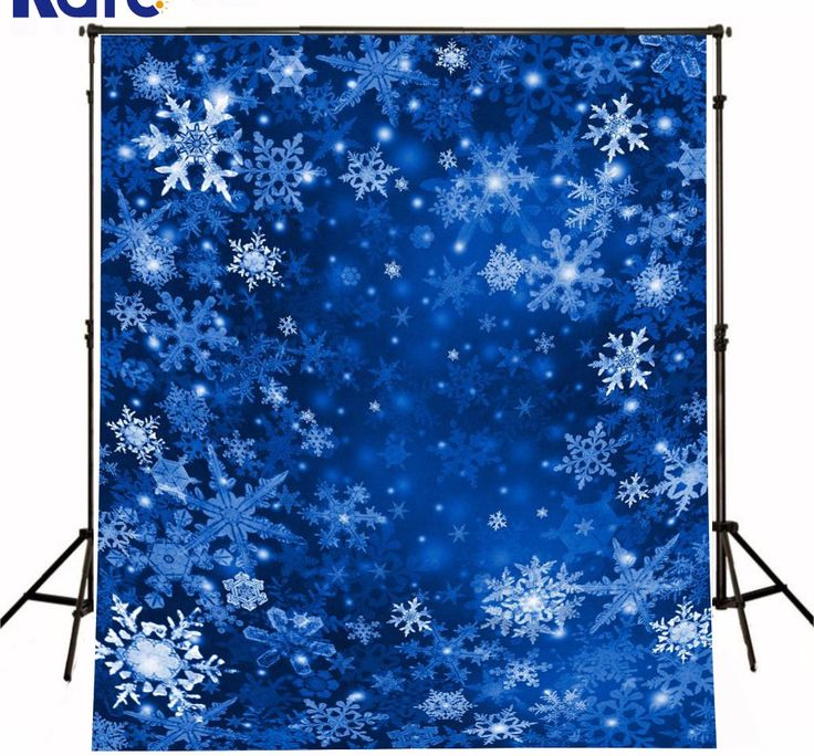 Frozen Christmas Backdrops Photography Snow Flakes Fluttering Blue Space Fundo Fotografico
