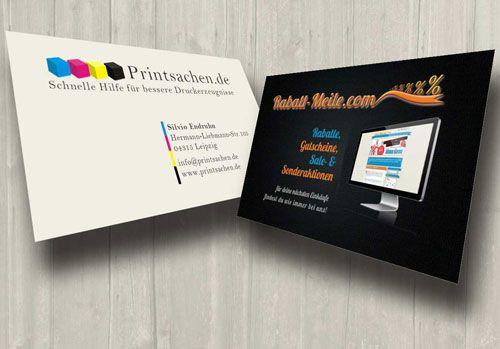 #Visitenkarten erstellen - perfekte #Druckergebnisse bekommen - Printsachen.de