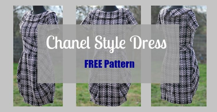 Pin for later...7.4k020 The Free sewing pattern looks like a Chanel Little Black Dress. It has a beautiful shapeandcan be used for many different occasions depending on the fabric you choose, but the. It has a classic collar with unusual … Continued