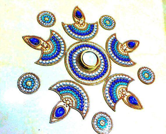 Rangoli Kundan Rangoli Diwali Acrylic rangoli by JustForElegance
