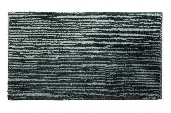 Schoner Wohnen Badvorleger Mauritius Streifen Anthrazit 1900 003 040 Badezimmerteppich Badeteppich Teppich