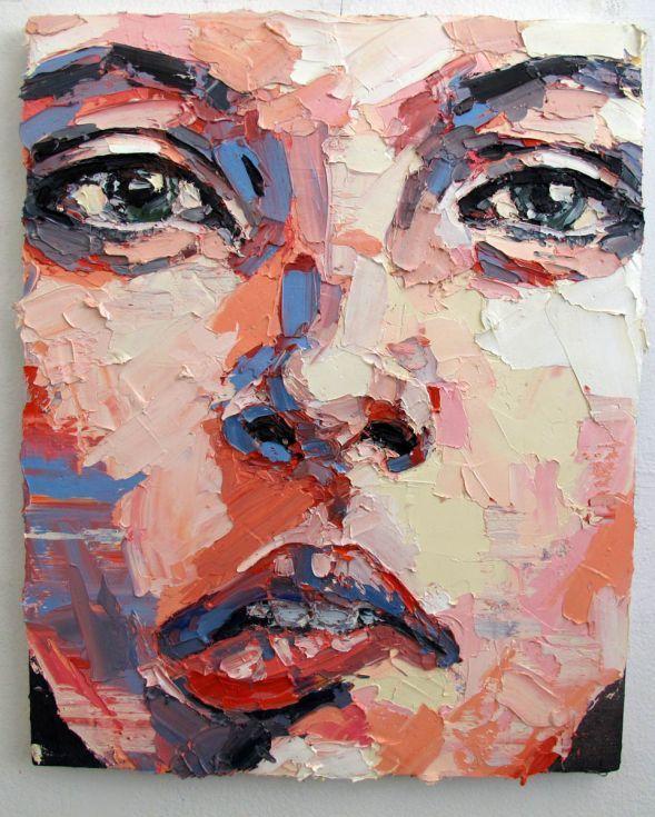 ARTFINDER: 6-12-14 Anxious by Thomas Donaldson - Head/portrait study in impasto oils on canvas
