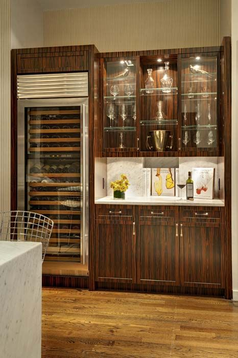 Delightful Macassar Ebony Wine Bar :: Furniture Design By Elizabeth Bolognino  Interiors // #Furniture
