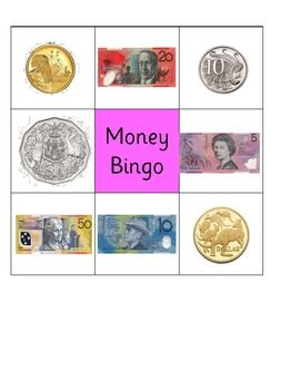 The following resource is a simple bingo game designed to help with recognition of Australian coins and notes. Includes 10 printable bingo boards.