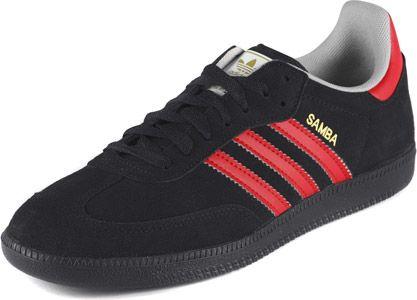 Adidas Samba shoes black red キャンバス