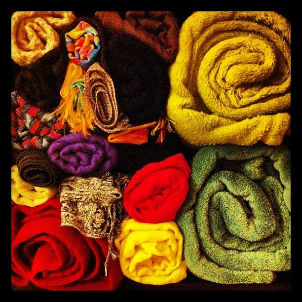 #Scarfs, #veils, #blankets and #bonnets in my #shelf.