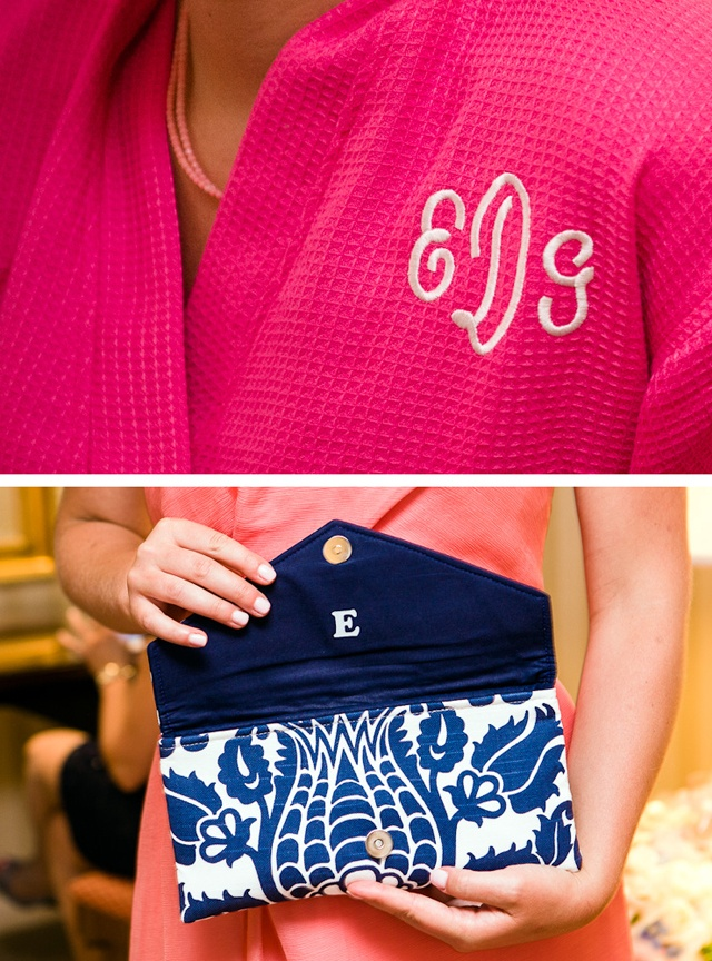 Make monogrammed presents for your bridesmaids
