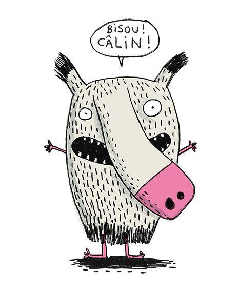 Bisou! Câlin! par Élise Gravel, disponsible à surtonmur.com.
