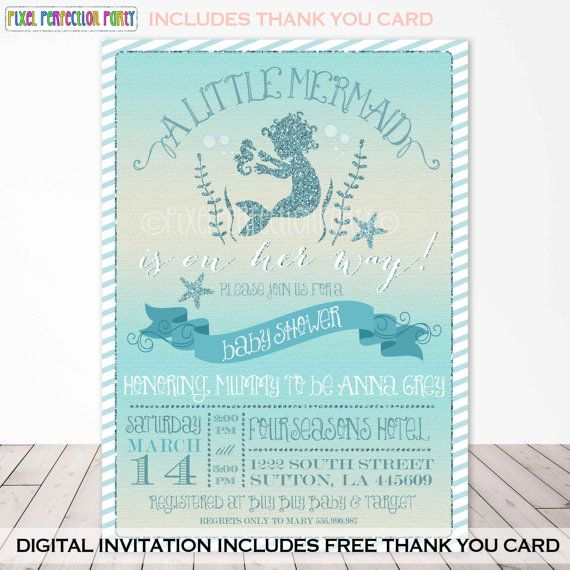 Hey, I found this really awesome Etsy listing at https://www.etsy.com/listing/230041572/mermaid-baby-shower-invitation-teal-and