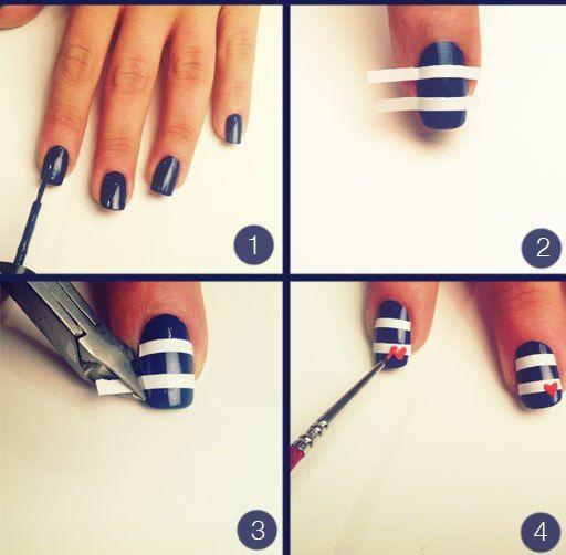 Você curte Unhas Náuticas? Veja como é simples de fazer!!!! Os melhores produtos para suas unhas em:  www.lojadeesmaltes.com.br