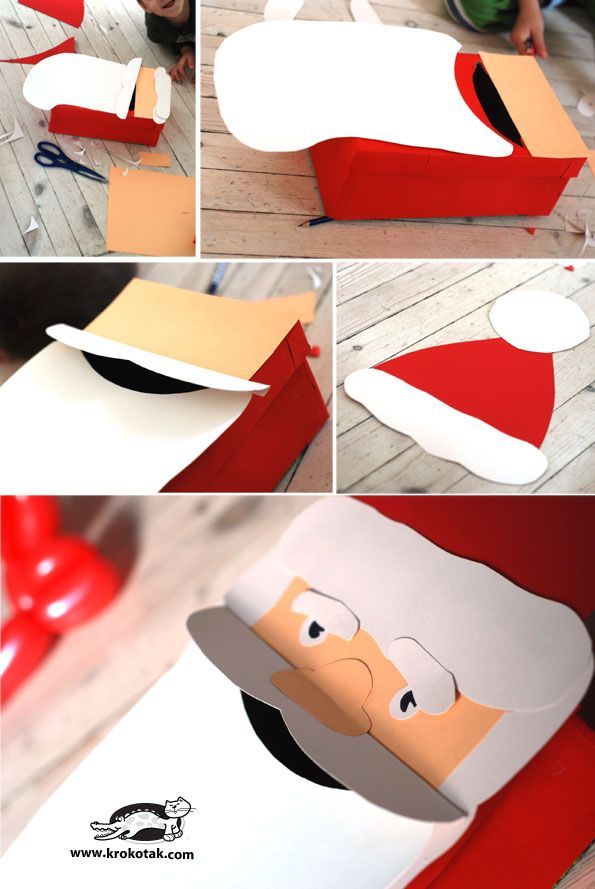 DIY Christmas Postbox - Santa