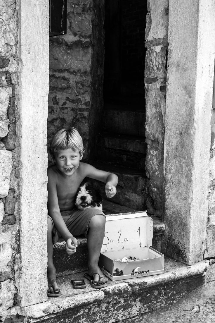 Selling shells in Rovinj.