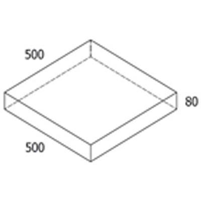 Grå haveflise 50x50x8 cm  140 kr/m2