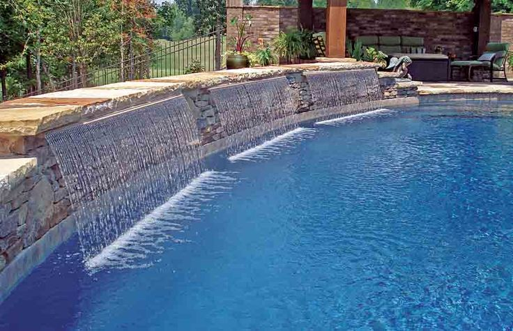 Inspirations Modern Swimming Pools Decorations With Fountains Design Ideas Swimming Pool Cascade