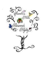 tattoo of family tree with names | Tattoo of my family tree (kids) symbols within their names do have a ...