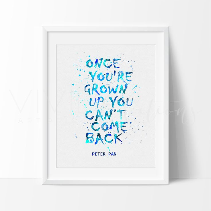 Peter Pan Quote Nursery Art Print Wall Decor. Our designs make an attractive, modern contemporary wall piece for your baby nursery, home, office or even as a gift.