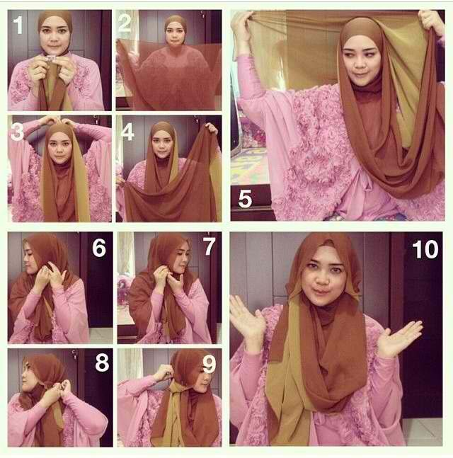 duo tone / large hijab tutorial