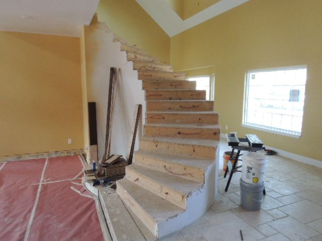 Staircase not completed.
