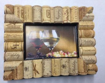 Wine Cork Picture Frame by camiescorks on Etsy