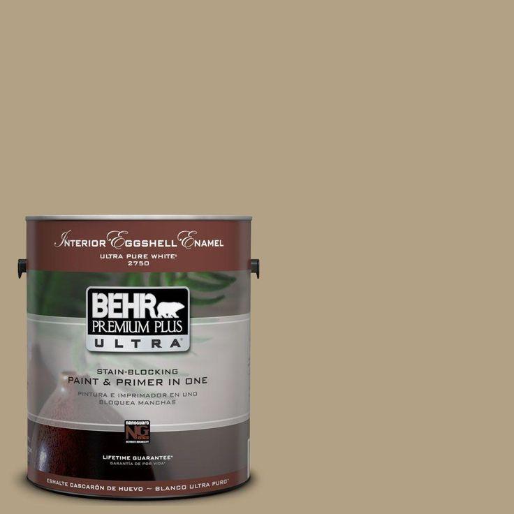 Behr Premium Plus Ultra 1 Gal Ul190 18 Chamois Tan Interior Flat Enamel Paint Enamel Paint