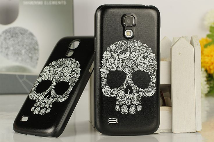 Θήκη Ultra Thin Skull Case OEM (Samsung Galaxy S4 mini) - myThiki.gr - Θήκες Κινητών-Αξεσουάρ για Smartphones και Tablets - Flower Skull