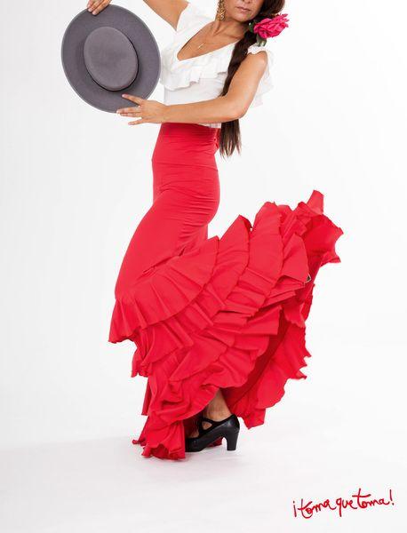Flamencorock mit vielen Volants von ¡toma que toma! auf www.tomaquetoma.de