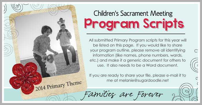 2014 Primary Program Scripts