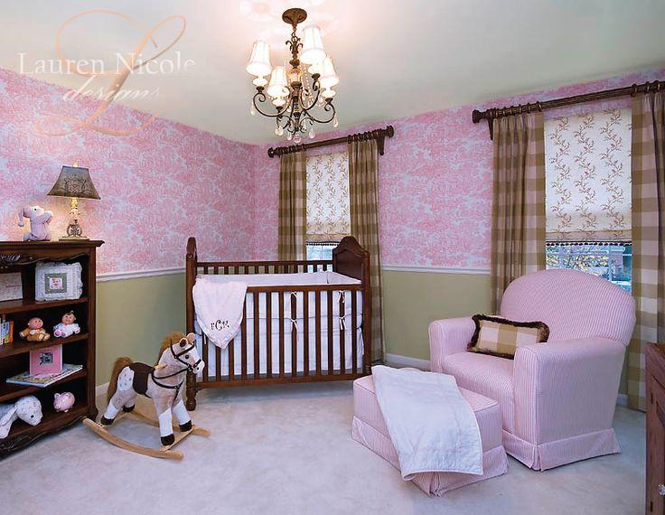 Baby Nursery Decor Decorating Nurseries Kids Rooms Exquisite Pink And Beige Room Design With Dark Wood Crib Hobbyhorse 24 Beautiful