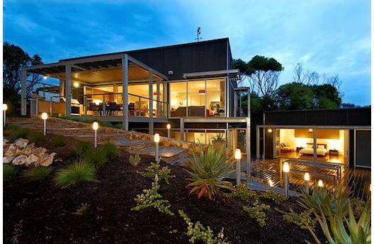 Modern Slope House by Melbourne, Australia architect Leon Meyer...