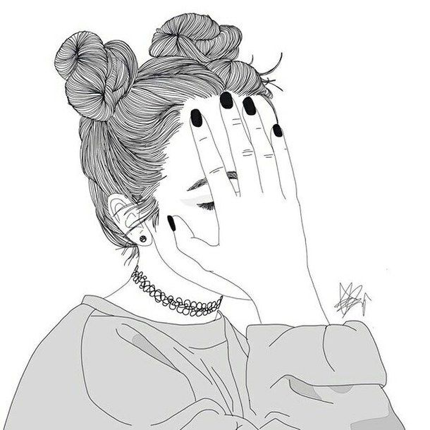 dessin, filles, grunge, indie                                                                                                                                                                                 Plus